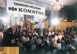 Established Komatsu America Manufacturing Corp. in the United States.