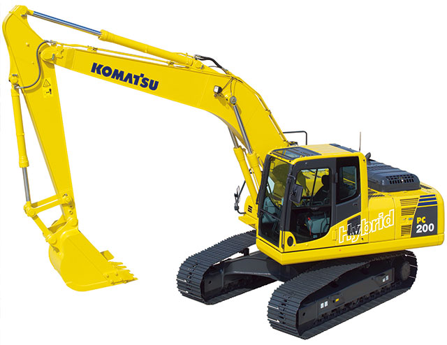 Introduced the world's first hybrid hydraulic excavator.